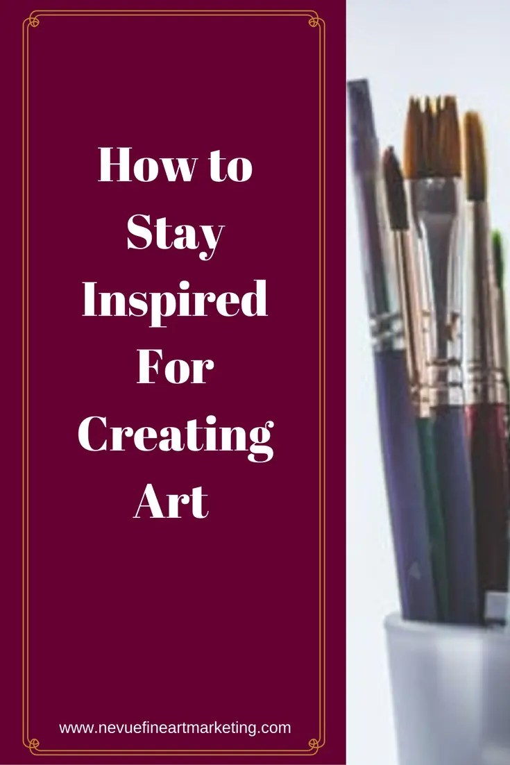 If you are a selling artist, you will have to find ways to keep yourself motivated. In this post, you will discover some helpful tips on how to stay inspired for creating art.