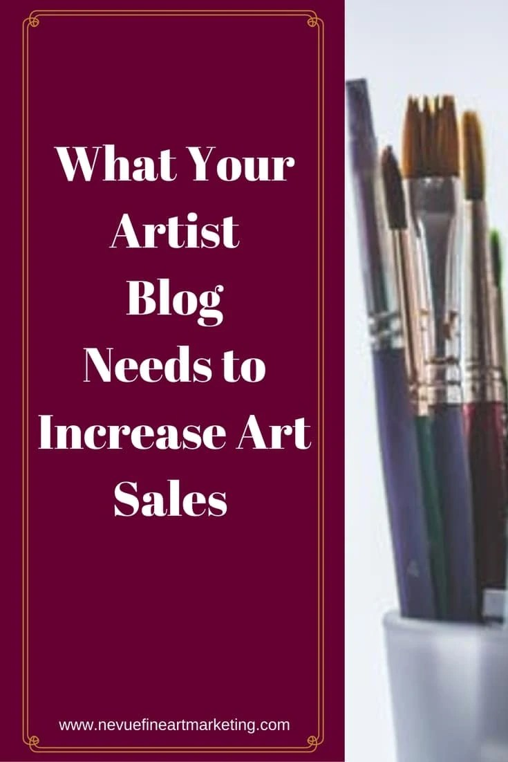 Would you like to increase your art sales?In this post, you will discover, what your artist blog needs to generate sales and a lot of them.