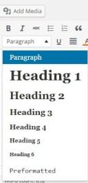 use subheading