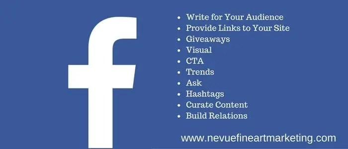 10 Effective Facebook Marketing Tips - Nevue Fine Art Marketing