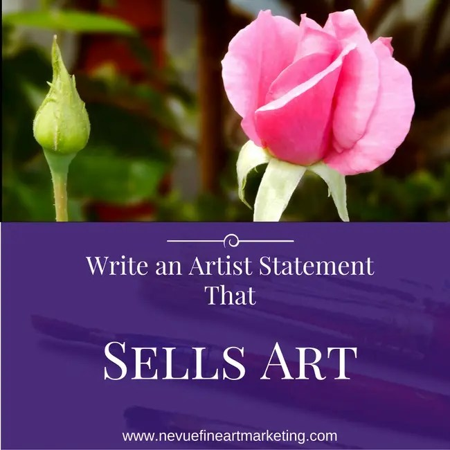 How to Write an Artist Statement That Sells Art