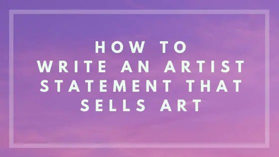 How to write an artist statement that sells art nevue fine art and artist statement nevue fine art marketing fandeluxe Images