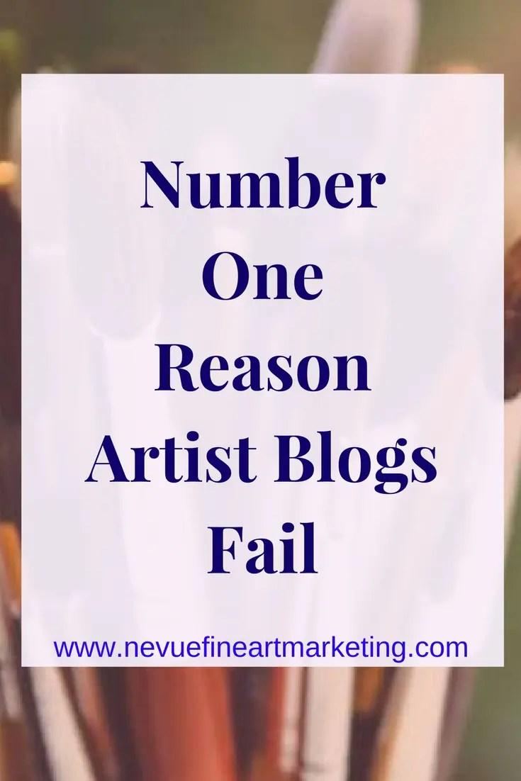 Number One Reason Artist Blogs Fail