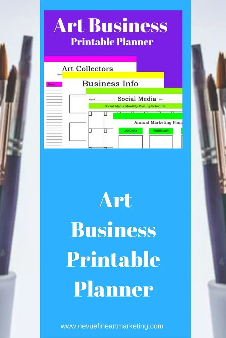 Art Business Printable Planner 16 printable planners that will help you keep your art business organized