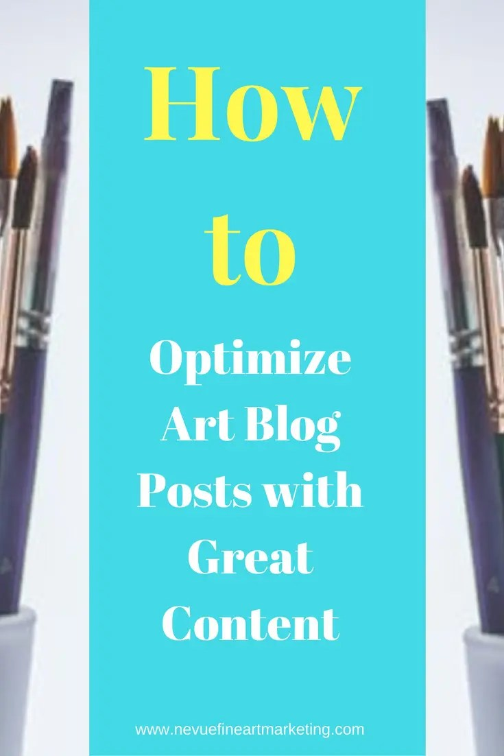 Are you noticing that your audience is not staying on your artist blog posts for any length of time? In this post, I am going to talk about how to optimize art blog posts with great content.