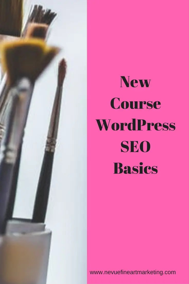 Are you ready to have your artist blog optimized for the search engines?This new course WordPress Seo Basics is exactly what you need.