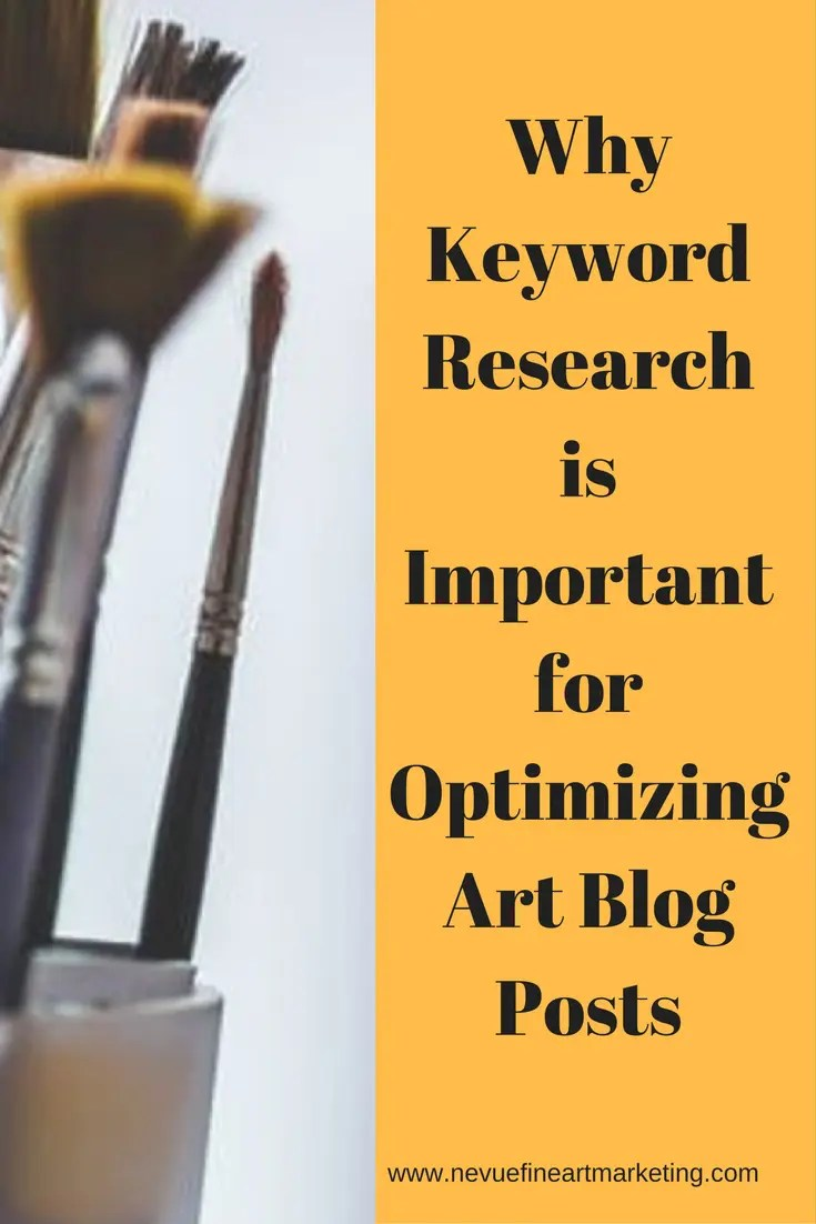 Are you trying to generate more traffic to your artist blog? In this post, you will discover why keyword research is important for optimizing art blog posts.