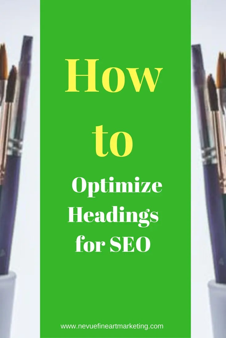 Are you confused on how to use headings in your art blog posts? Discover how to optimize headings for SEO so you can rank higher in the search results.