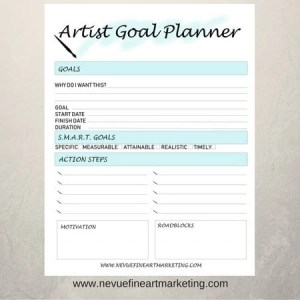 Artist Goal Planners in Light Blue