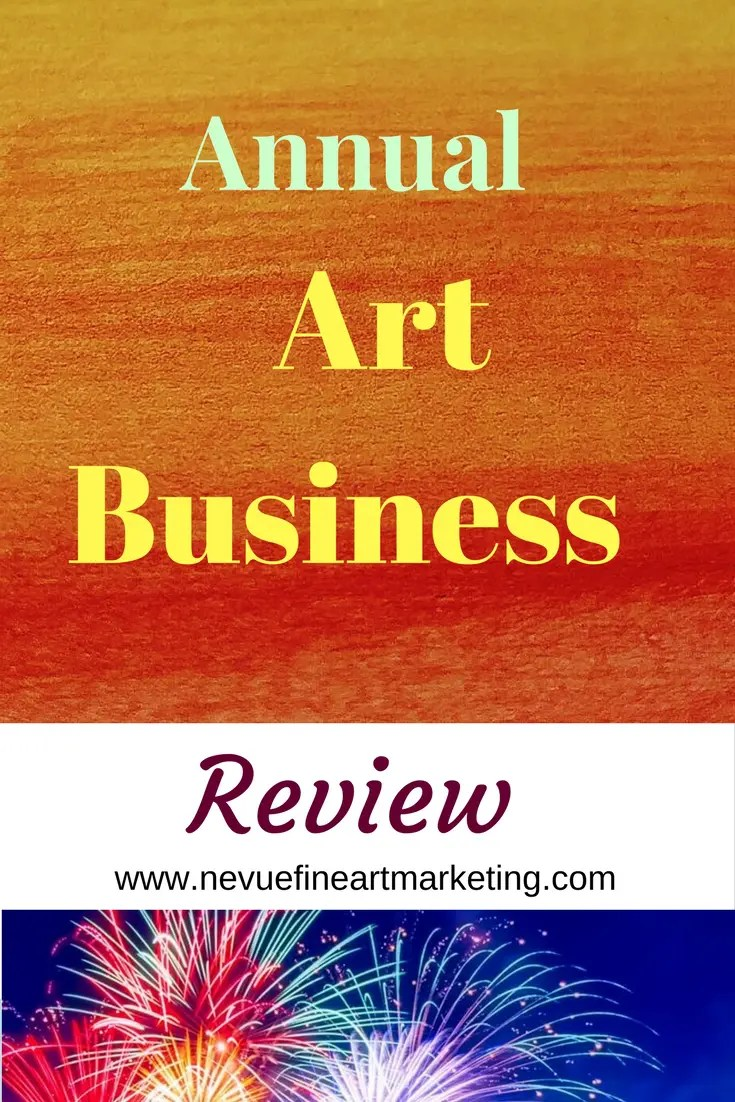 Are you motivated to sell more art next year? I am sharing with you my personal annual art business review to help you build a stronger business next year.