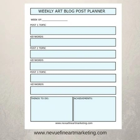 photograph relating to Weekly Printable named Weekly Artwork Site Planner Printable