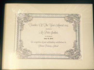 Award Mr Jenkins