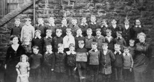 Picture taken of Court Street School in 1914