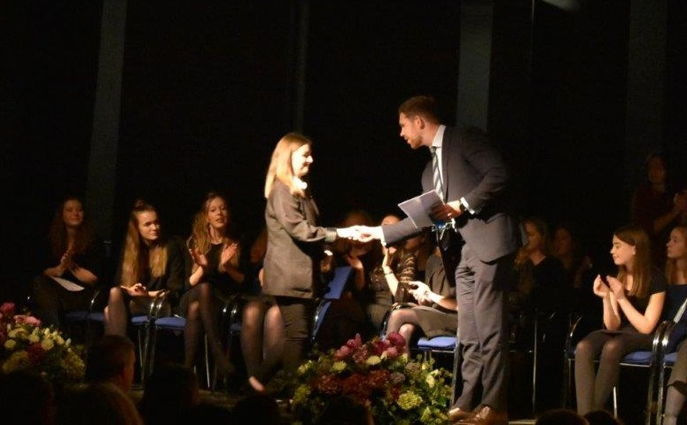 Dan McGrath at St Albans RC High School awards