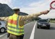 Polizeibeamter-Sperre