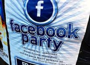 facebook-party plakat presse