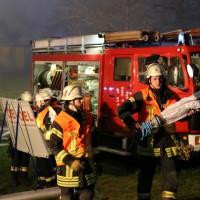 Hergensweiler - Brand eines landwirtschaftlichen Anwesens