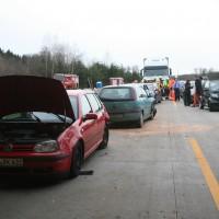 A8 Burgau VU -keine Rettungsgasse
