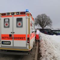 Bad Wörishofen - Kollision zwischen Gelenkbus und Pkw - eine Person eingeklemmt