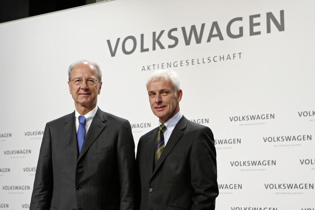Hans Dieter Pötsch, Vorsitzender des Aufsichtsrates der Volkswagen AG, und Matthias Müller, Vorstandsvorsitzender der Volkswagen AG - Foto: Volkswagen AG