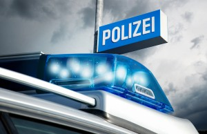 Blaulicht Polizeiauto Station