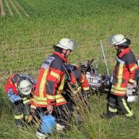 04-07-2016_A7_Woringen_motorrad-Gespann_Unfall-Feuerwehr_Poeppel_0005