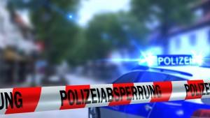 Polizei Absperrung - Straensperre - Tatort