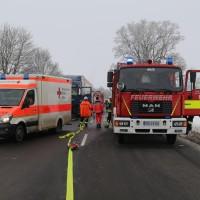 Unfall Frontal Biessenhofen tödlich LKW B16 Bringezu (2)