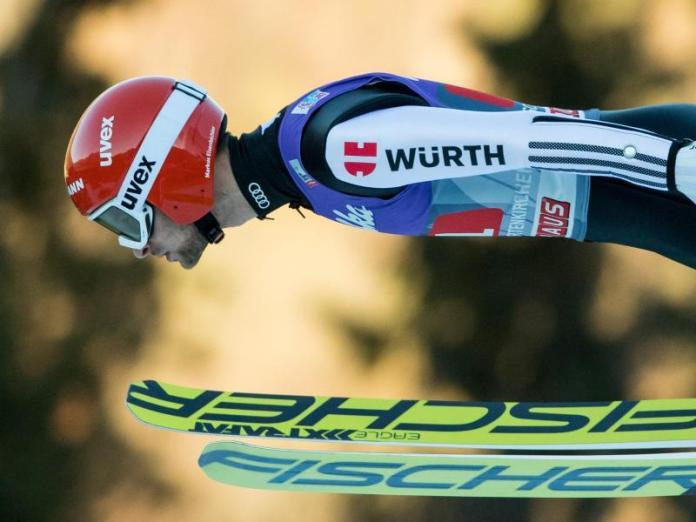 Hoffnungsträger: Markus Eisenbichler fährt nach Platz sechs in Oberstdorf und Platz vier beim Neujahrsspringen in Garmisch-Partenkirchen angriffslustig zum Bergisel. Foto: Daniel Karmann