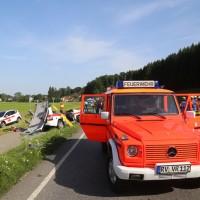 2017-07-19_B465_Leutkirch_Diepoldshofen_Unfall_DRK_Lkw_Feuerwehr_Poeppel-0008
