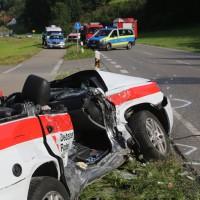 2017-07-19_B465_Leutkirch_Diepoldshofen_Unfall_DRK_Lkw_Feuerwehr_Poeppel-0031