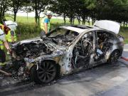 19.07.2019 Brand PKW A96 Bad Wörishofen Mindelheim BMW Totalschaden (8)