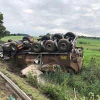 22.08.2019 Unfall schwer Wangen LKW A96 (1)