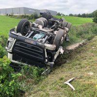 22.08.2019 Unfall schwer Wangen LKW A96 (6)