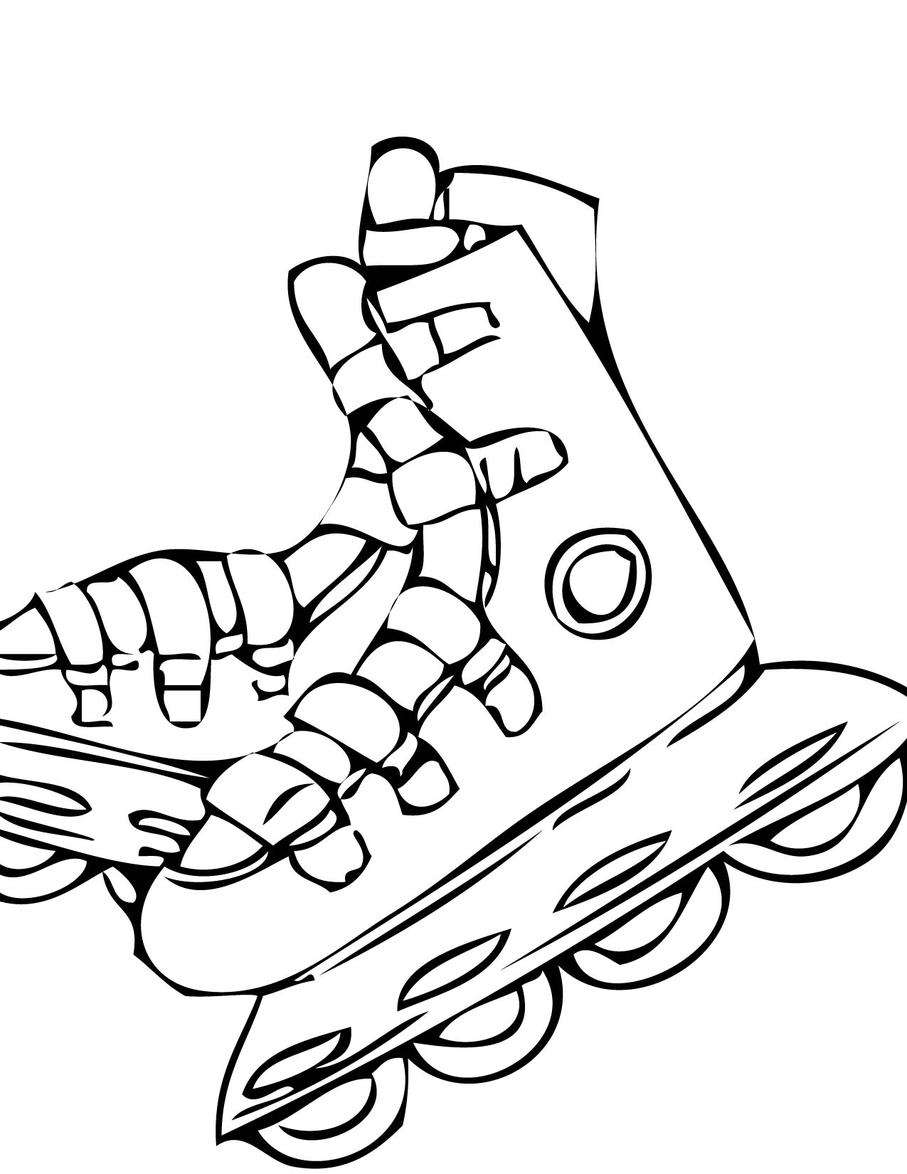 Roller Skate Coloring Page Sketch Coloring Page