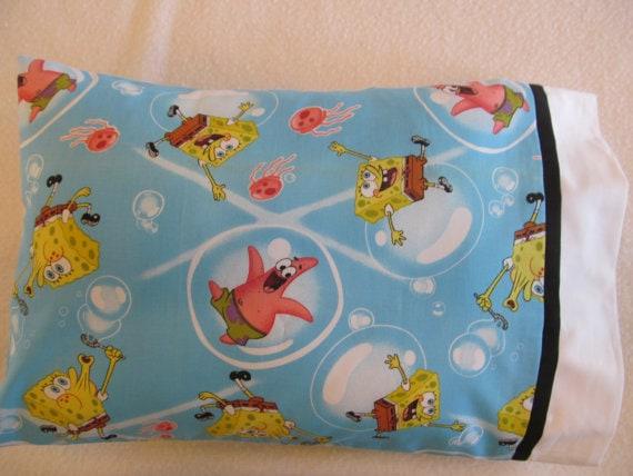 Etsy Spongebob Travel Pillowcase