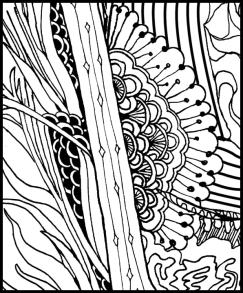 Grounding Exercise Feet, Seat, and Back Coloring Page detail