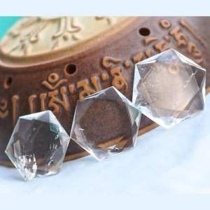 超光速粒子大卫星白水晶3cm(免邮)