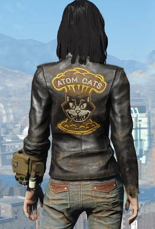 Fallout 4 Atom Cats Jacket Greaser Jacket New American