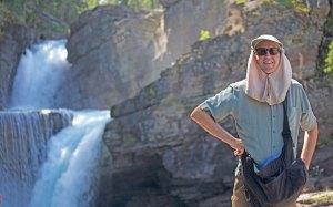 Tom at Saint Mary Falls in Glacier National Park.