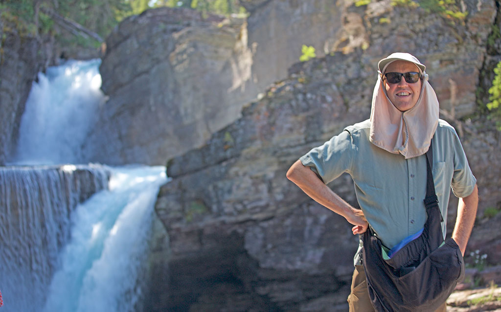 Tom at Saint Mary Falls in Glacier National Park.