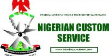 Nigeria Customs Service Shortlisted