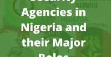 Security Agencies in Nigeria