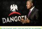 dangote group recruitment 2020