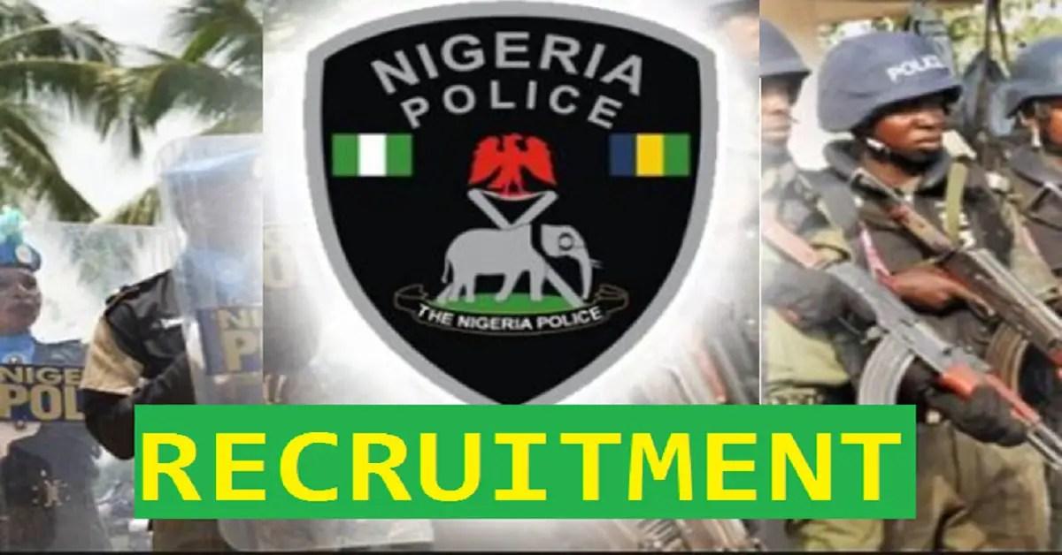 Nigeria Police (NPF) Recruitment 2021 Application form