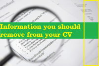 Information you should remove from your CV