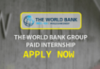World Bank Group Paid Internship 2020