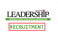 Leadership Newspaper recruitment