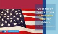 how to write a US invitation letter for Visitors
