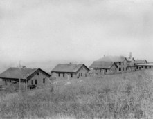 In 1922, the island was the site of a hospital for victims of Hansen's disease. The patients' cottages faced north where the mainland town of Dartmouth and the city of New Bedford were barely visible. Photo courtesy of the Penikese School.